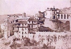 Amarante, Portugal - An 1850 view of the Largo de São Gonçalo