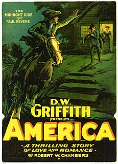 <i>America</i> (1924 film) 1924 film by D. W. Griffith