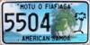 American Samoa license plate 2011 5504.png