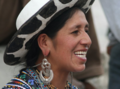 Amerindian woman from ecuador smiling.png