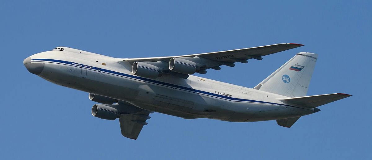 AN-124 Ruslan is the biggest serial-produced airplane in the world. Volga-Dnepr Airlines 27