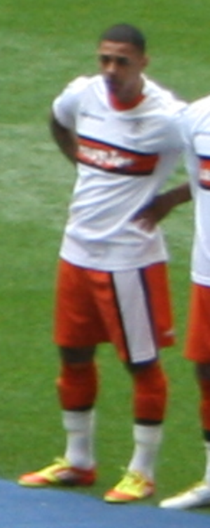 Andre Gray - Gray lining up for Luton Town before the 2012 Conference Premier play-off Final