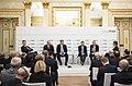 Andrej Plenkovic, Mamuka Bakhtadze, Petro Poroshenko, Thomas Greminger, Manfred Weber und Ian Bremmer MSC 2019.jpg