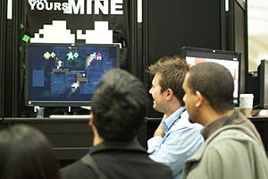 Monaco: What's Yours Is Mine - Andy Schatz displaying Monaco: What's Yours Is Mine at GDC 2010