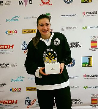 Anjali Thakker - Anjali Thakker selected as the Best Player for Team NZL at the 2016 IIHF Ice Hockey Women's World Championship Division 2 Group B.