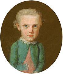 Portret chłopca w zielono-błękitnej kurtce