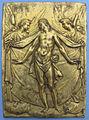 Anotio abondio (cerchia), pietà con angeli, bronzo dorato, 1600 ca.JPG