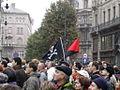 Antifa zaszlo kormany ellenes tuntetsen.JPG