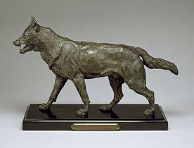 Antoine-Louis Barye - Walking Wolf - Walters 2765 - Profile.jpg