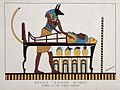 Anubis tending mummy. Tombs of the Kings, Thebes Wellcome L0027403.jpg