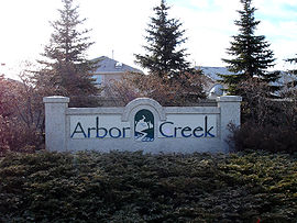 Arbor Creek entrance sign
