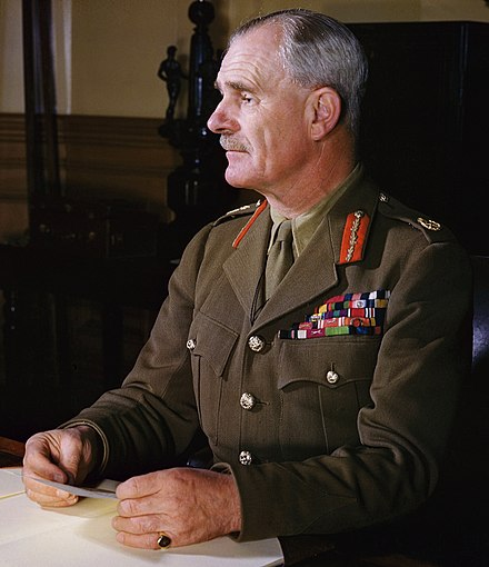 "In the morning of 15 April 1941, Wavell sent to Wilson the following message: ""We must of course continue to fight in close cooperation with Greeks but from news here it looks as if early further withdrawal necessary."" Archibald Wavell2.jpg"
