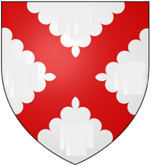 Baron Tibetot - Image: Argent A Saltire Engrailed Gules