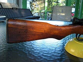 Type 99 rifle - Image: Arisaka Type 99 butt