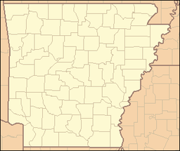 Location of Crater of Diamonds State Park in Arkansas