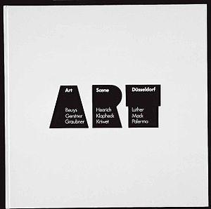 Lothar Wolleh - Cover of Art Scene Düsseldorf. Lothar Wolleh, Stuttgart 1972