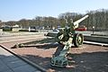 Artillery gun outside the Soviet War Memorial (Tiergarten), Berlin.jpg