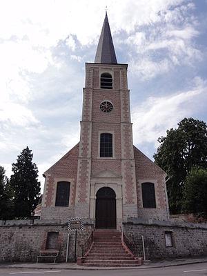 Artres - Image: Artres (Nord,Fr) église, façade