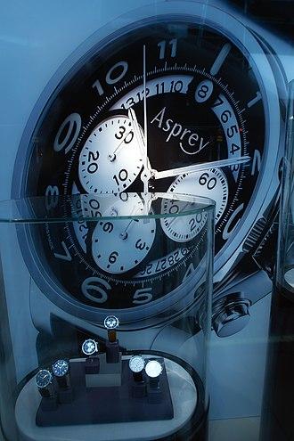 Asprey - A watch display at Asprey's store on New Bond Street