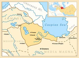 Atropatene ancient kingdom, modern-day Republic of Azerbaijan, Iranian Azerbaijan and Iranian Kurdistan