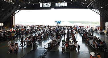 Attendees at the Celebrate America event at Yokota Air Base
