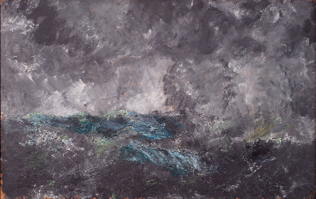 """Storm in the Skerries. The Flying Dutchman"", toile de August Strindberg au SKM de Copenhague."