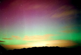 Southern Hemisphere - Aurora australis appearing from Stewart Island / Rakiura in the south of New Zealand