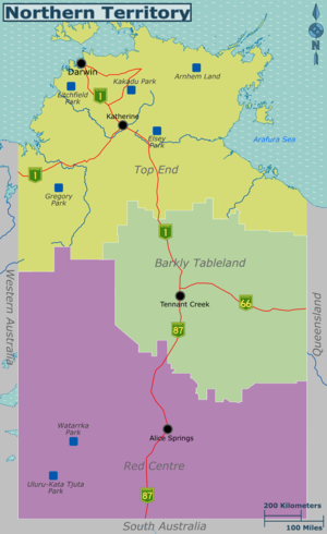 Australia Northern Territory travel map.png