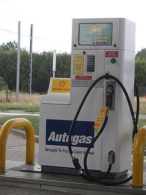 Autogas - A Shell Autogas refuelling station.