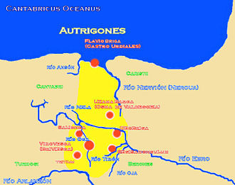 Autrigones - Location of the tribe of the Autrigones.