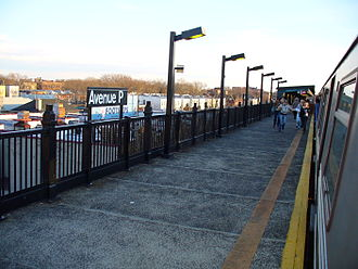 Avenue P (IND Culver Line) - Image: Avenue P NYC Subway Station by David Shankbone