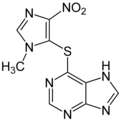 Azathioprine Structural Formulae.png