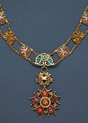 Order of the White Lion - The collar of the Order of the White Lion awarded between 1921 and 1961