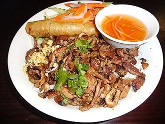 Rice vermicelli - Bún Thịt Nướng Chả Giò
