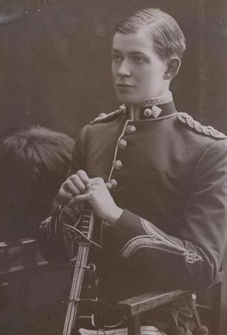 """Far Eastern Party - Ninnis, in his Royal Fusilier uniform before the expedition. """"We could do nothing,"""" wrote Mertz in his diary after Ninnis' death. """"We were standing, helplessly, next to a friend's grave, my best friend of the whole expedition."""""""