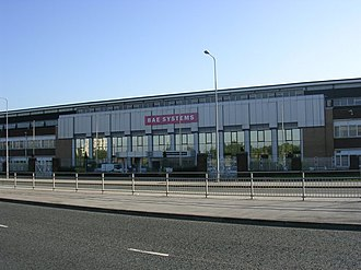 Chadderton - BAE Systems had a manufacturing plant in south Chadderton. The plant occupied the former Avro aircraft factory which produced over 3,000 Avro Lancaster bombers during the Second World War.