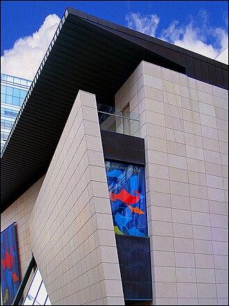 Bata Shoe Museum - Upper level exterior of the museum building