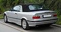 BMW 320i Cabriolet (E36 2C, Facelift) – Heckansicht, 8. Juni 2011, Wülfrath.jpg