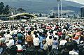 BX2 Ecuador 037 people at Papal mass, Quito, January 1985.jpg