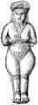 Babylonska astartefigurer, naken, Nordisk familjebok.png
