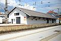 Bahnhof Hall in Tirol Gütermagazin.JPG