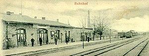 Eberswalde–Frankfurt (Oder) railway - Niederfinow station about 1901