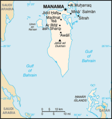 Mapa Bahrajnu