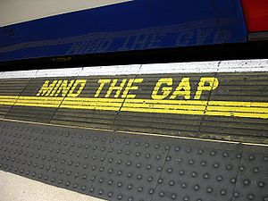 """Mind the Gap"", Waterloo station, on..."