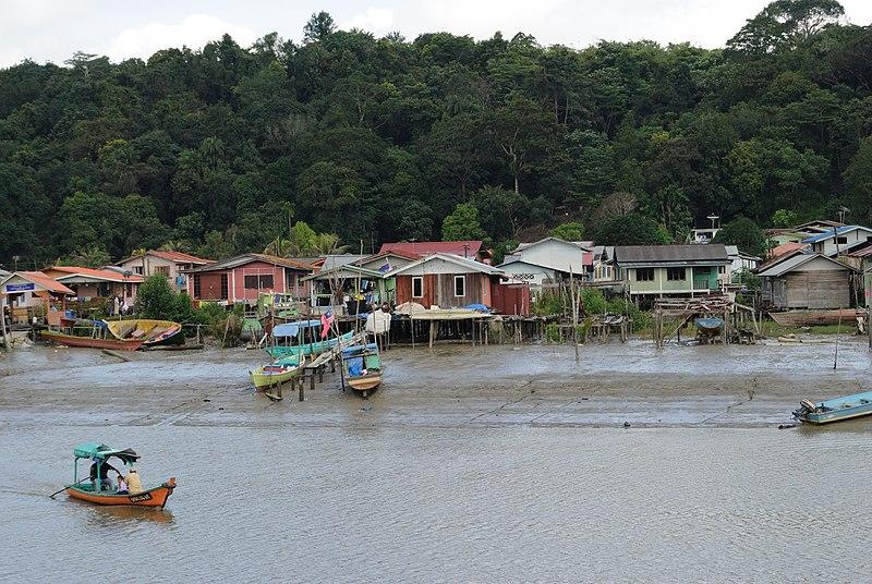 Sarawak River in Borneo jungles