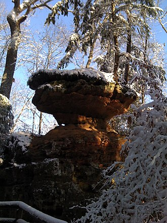 Natural Bridge State Resort Park - Image: Balancedrock ky 12 13 08