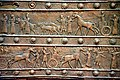 Balawat gate of Shalmaneser, detail, 9th century BCE, The British Museum, London.jpg