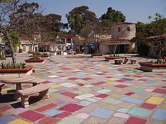 Spanish Village Art Center - The site of the art center in 2004