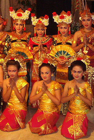 Etiquette in Indonesia - Balinese traditionally greets in Añjali Mudrā, a Hindu heritage in Indonesian culture.