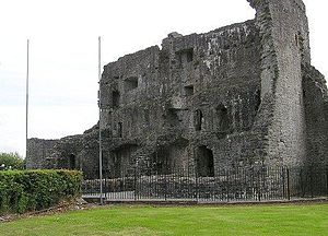 Ballymote Castle - Ballymote Castle showing gatehouse